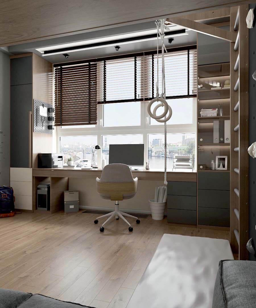 Подростковая мебель в комнату мальчика проект 3671-4