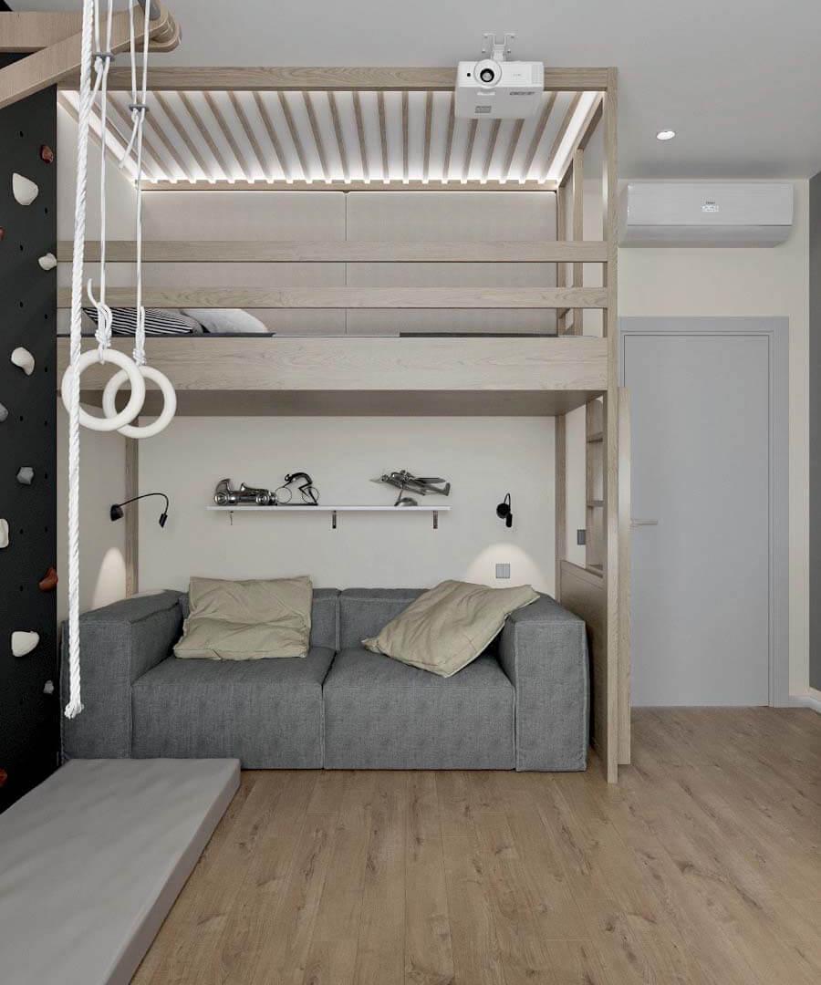 Подростковая мебель в комнату мальчика проект 3671-6