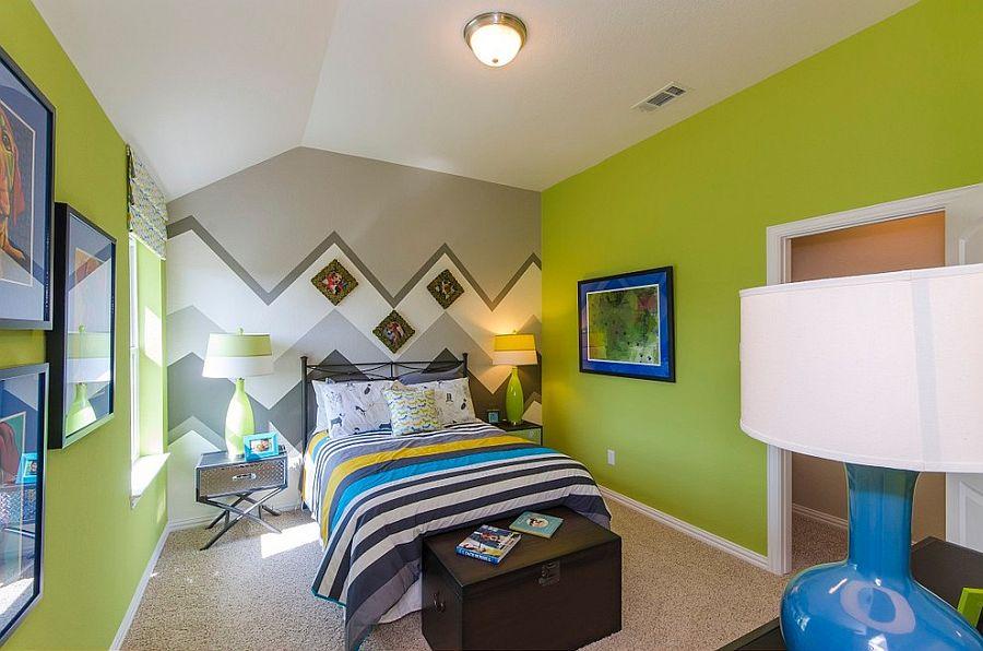 Принт шеврон. Разнообразие цветовых сочетаний и строгая геометрия от Landon Homes