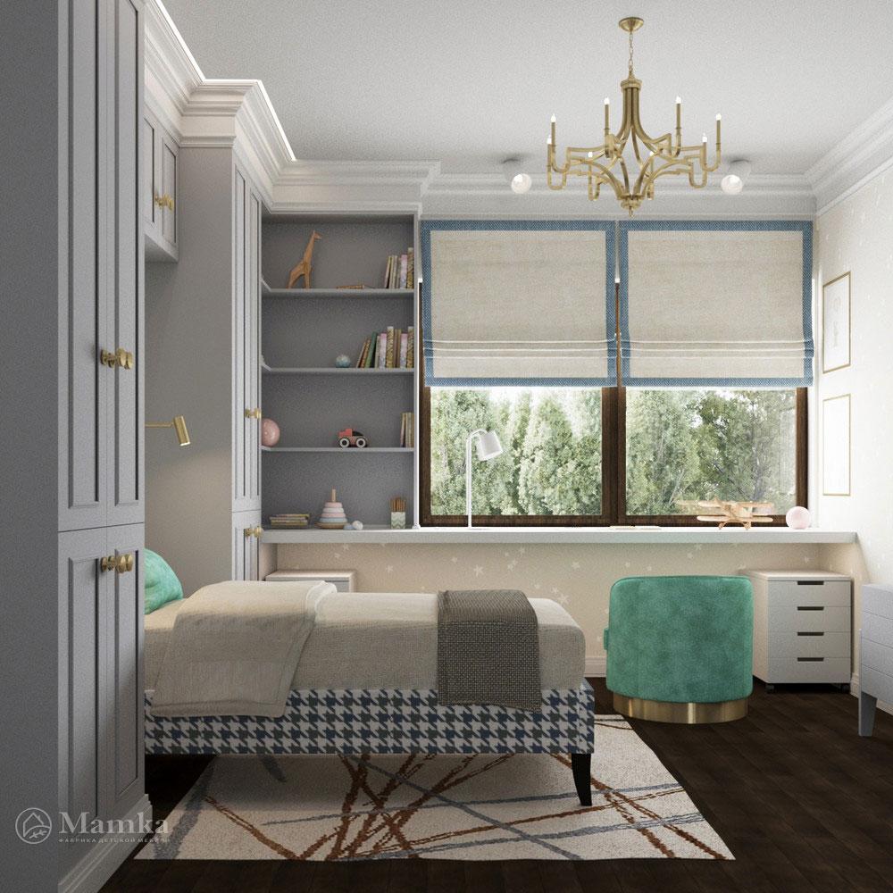 Рациональный интерьер детской комнаты для мальчика 2