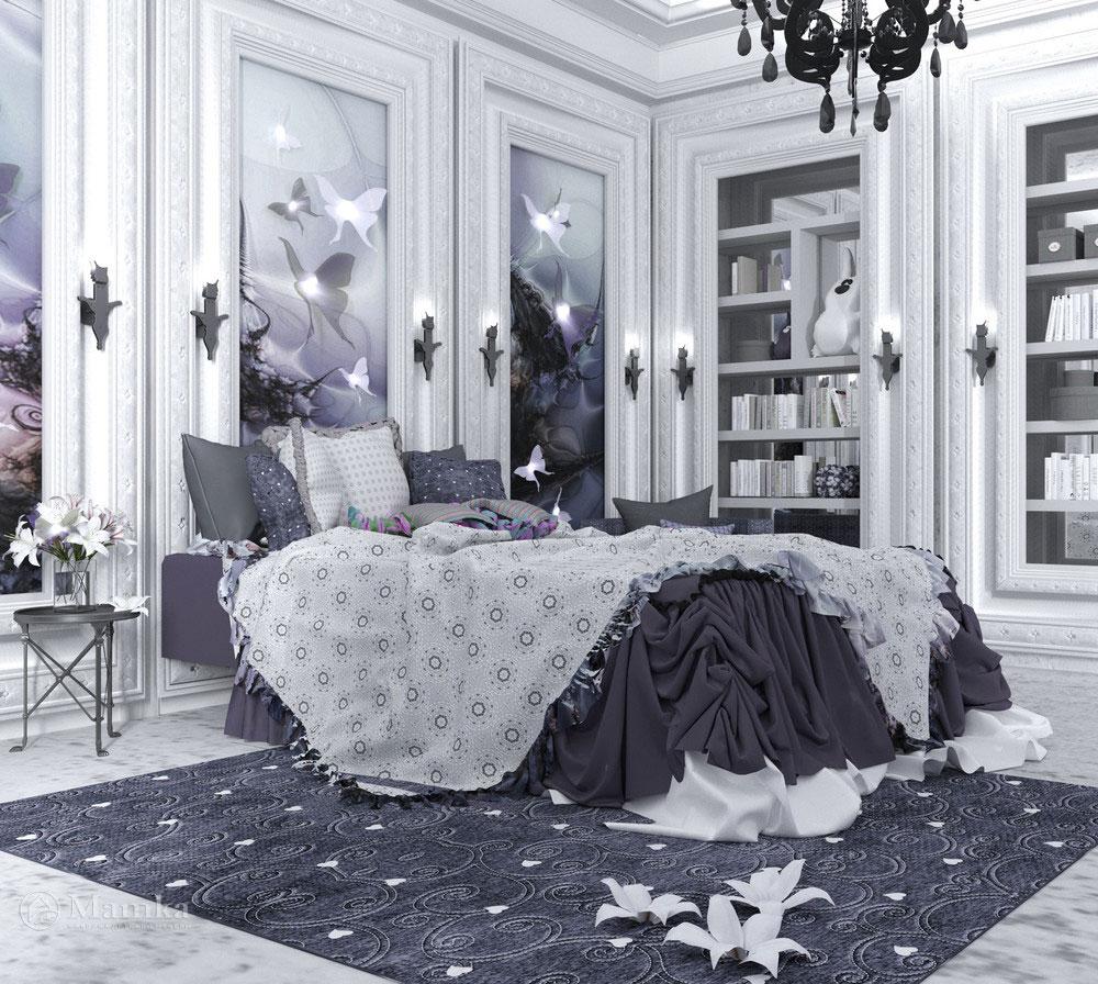Роскошная идея детской комнаты для девочки 4