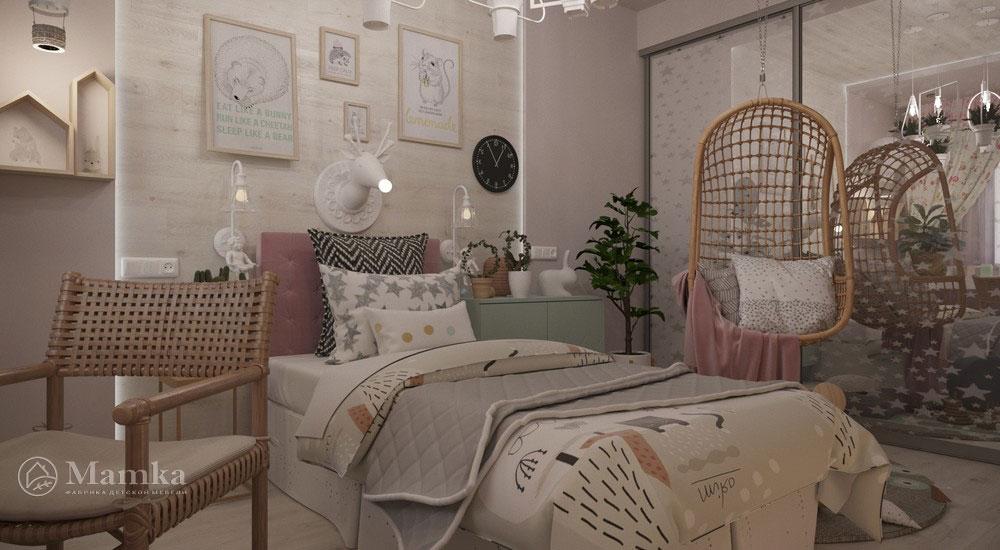 Роскошный дизайн детской спальни в светлых тонах 1