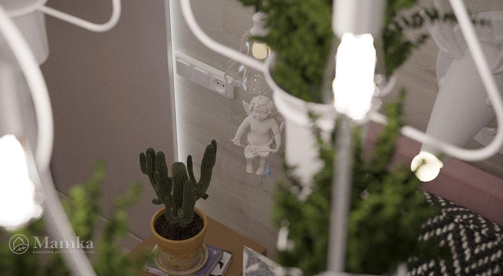 Роскошный дизайн детской спальни в светлых тонах 2