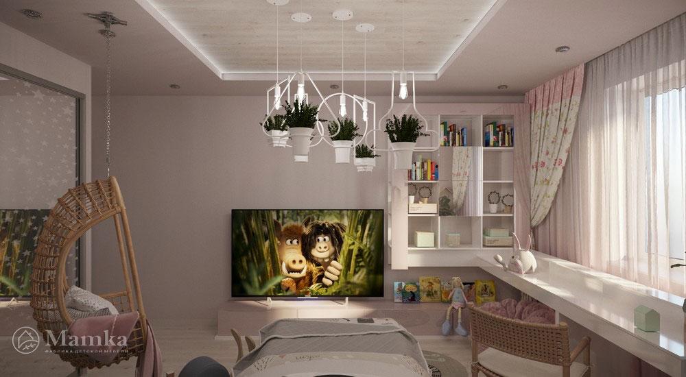 Роскошный дизайн детской спальни в светлых тонах 4
