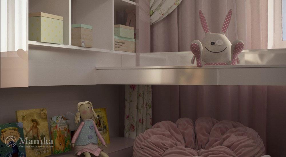 Роскошный дизайн детской спальни в светлых тонах 6