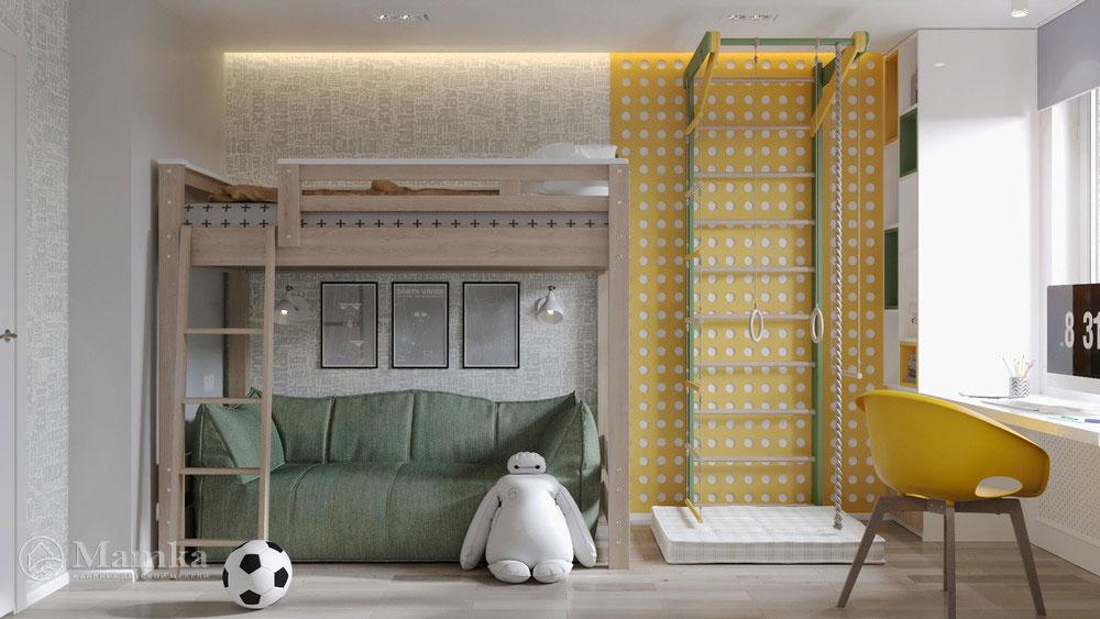 Современный и удобный дизайн детской для мальчика 2
