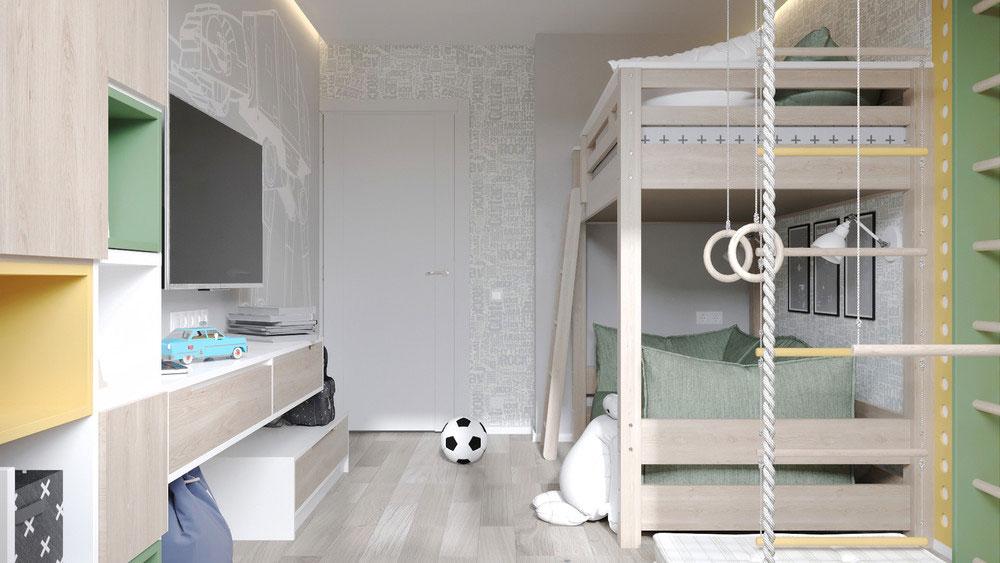 Современный и удобный дизайн детской для мальчика 5