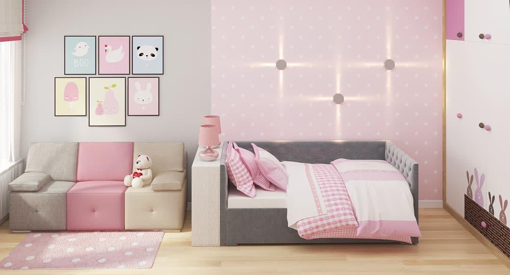 Современные идеи детской комнаты для девочки в розовых тонах 1