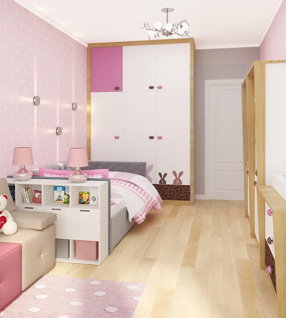 Современные идеи детской комнаты для девочки в розовых тонах 4