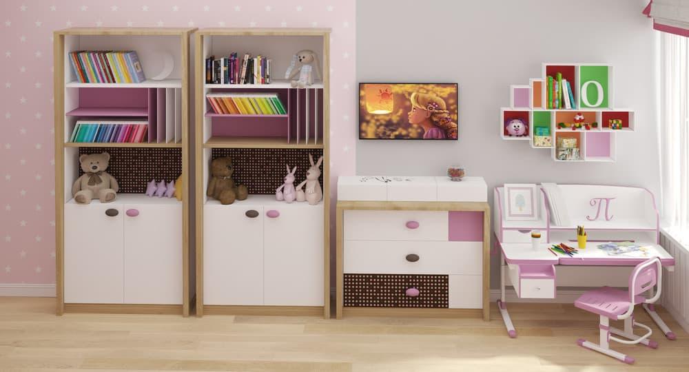 Современные идеи детской комнаты для девочки в розовых тонах 6