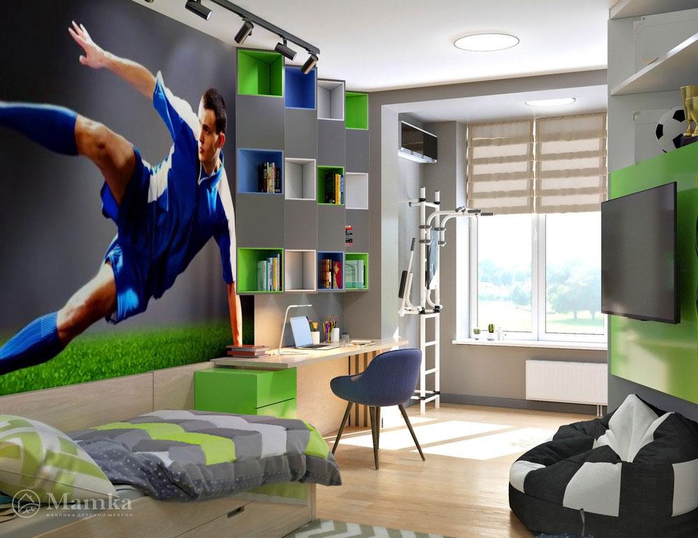 Современная детская для школьника со спортивным дизайном 2