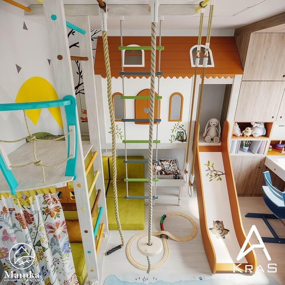 Спортивно-игровые комплексы в детской комнате 1