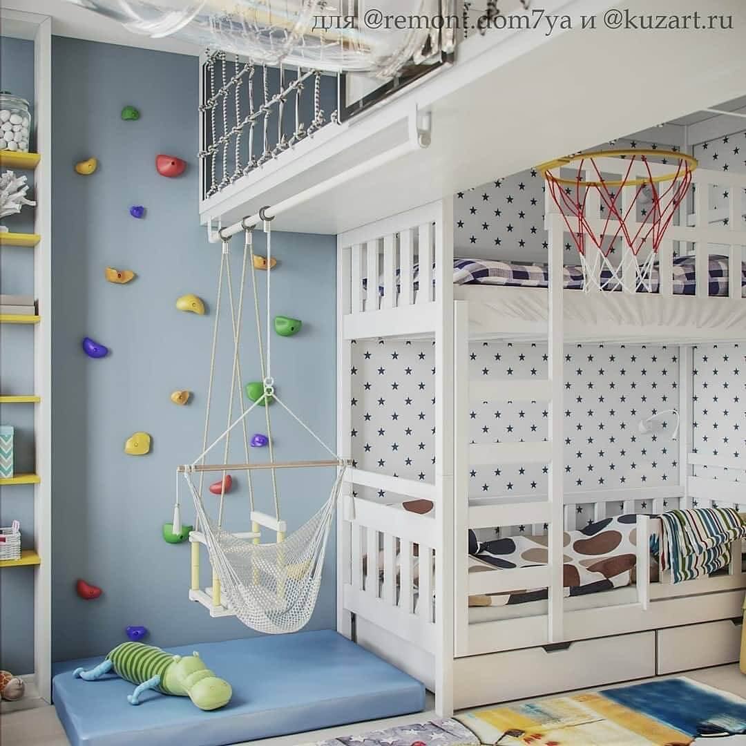 Спортивно-игровые комплексы в детской комнате 4
