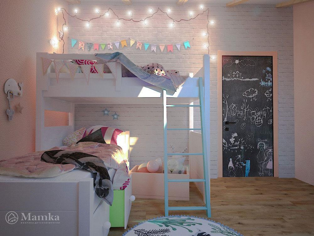 Стильные и практичные идеи детской для двоих 4