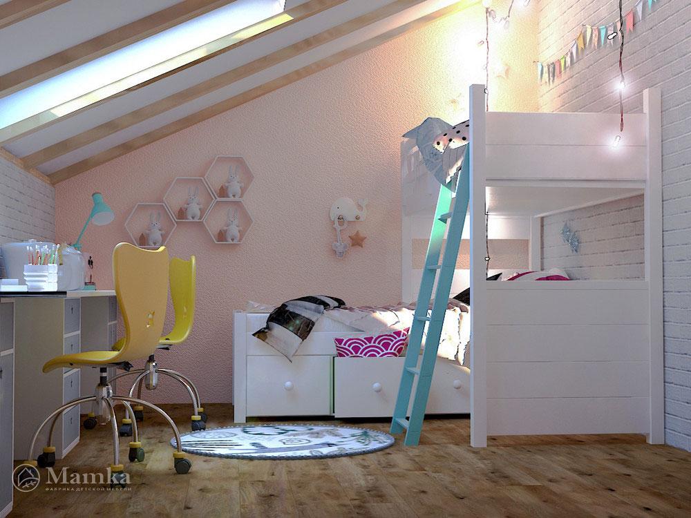 Стильные и практичные идеи детской для двоих 5