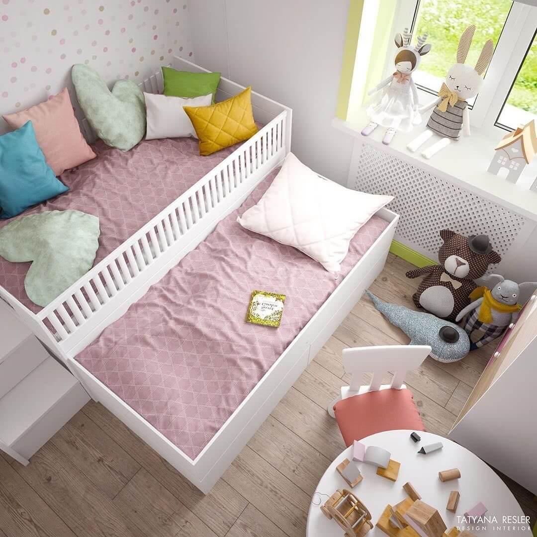 Стильный дизайн детской комнаты для 2 детей 1