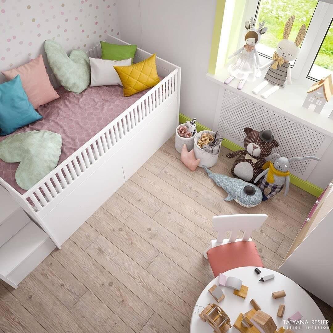 Стильный дизайн детской комнаты для 2 детей 2