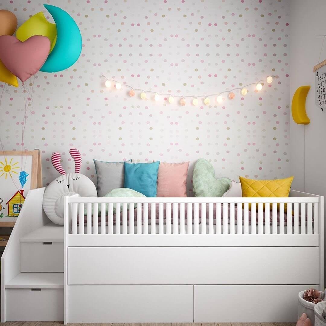 Стильный дизайн детской комнаты для 2 детей 3