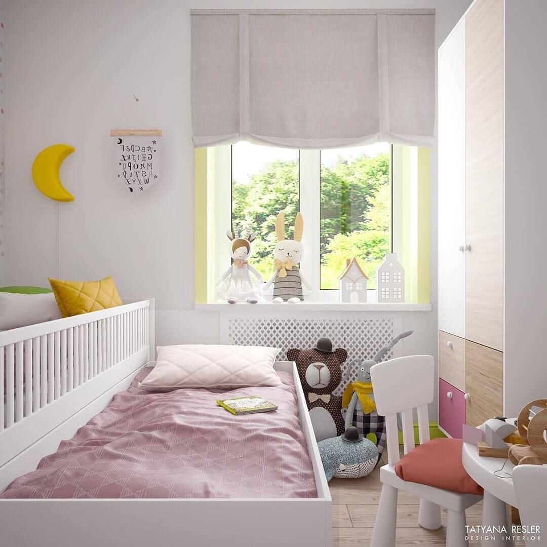 Стильный дизайн детской комнаты для 2 детей 5