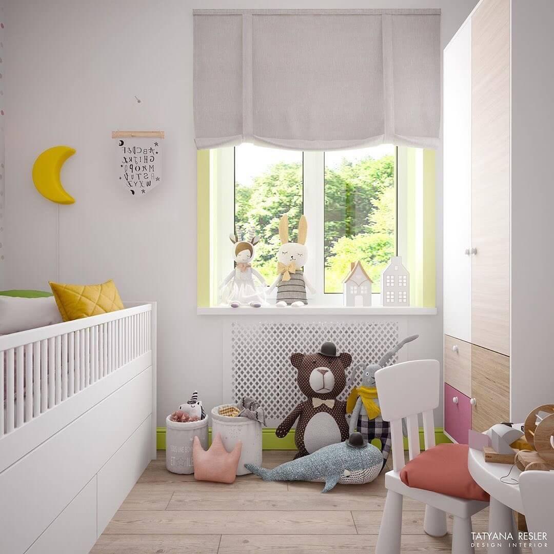Стильный дизайн детской комнаты для 2 детей 6