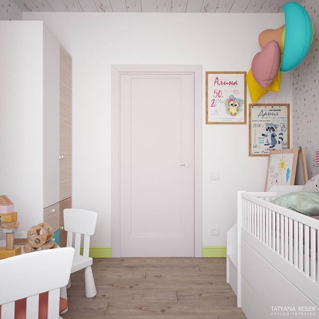 Стильный дизайн детской комнаты для 2 детей 8