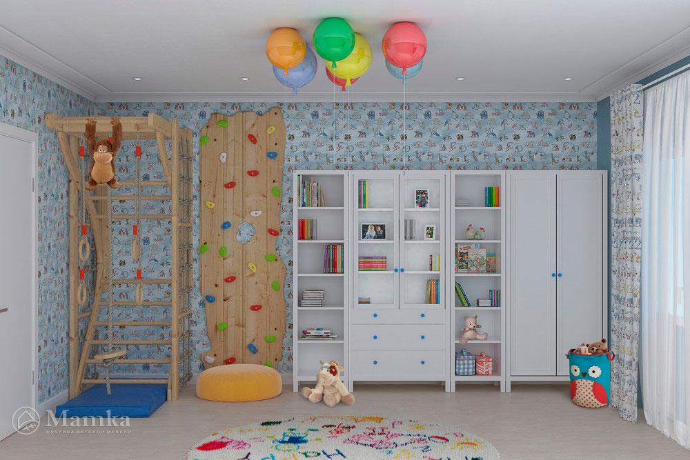 Стильный дизайн детской для разнополых детей 3