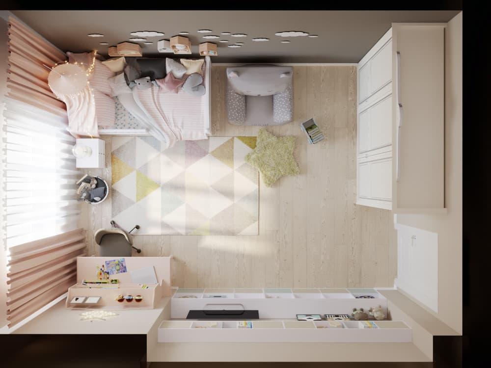 Детская комната для девочки в светло-коричневой гамме 5
