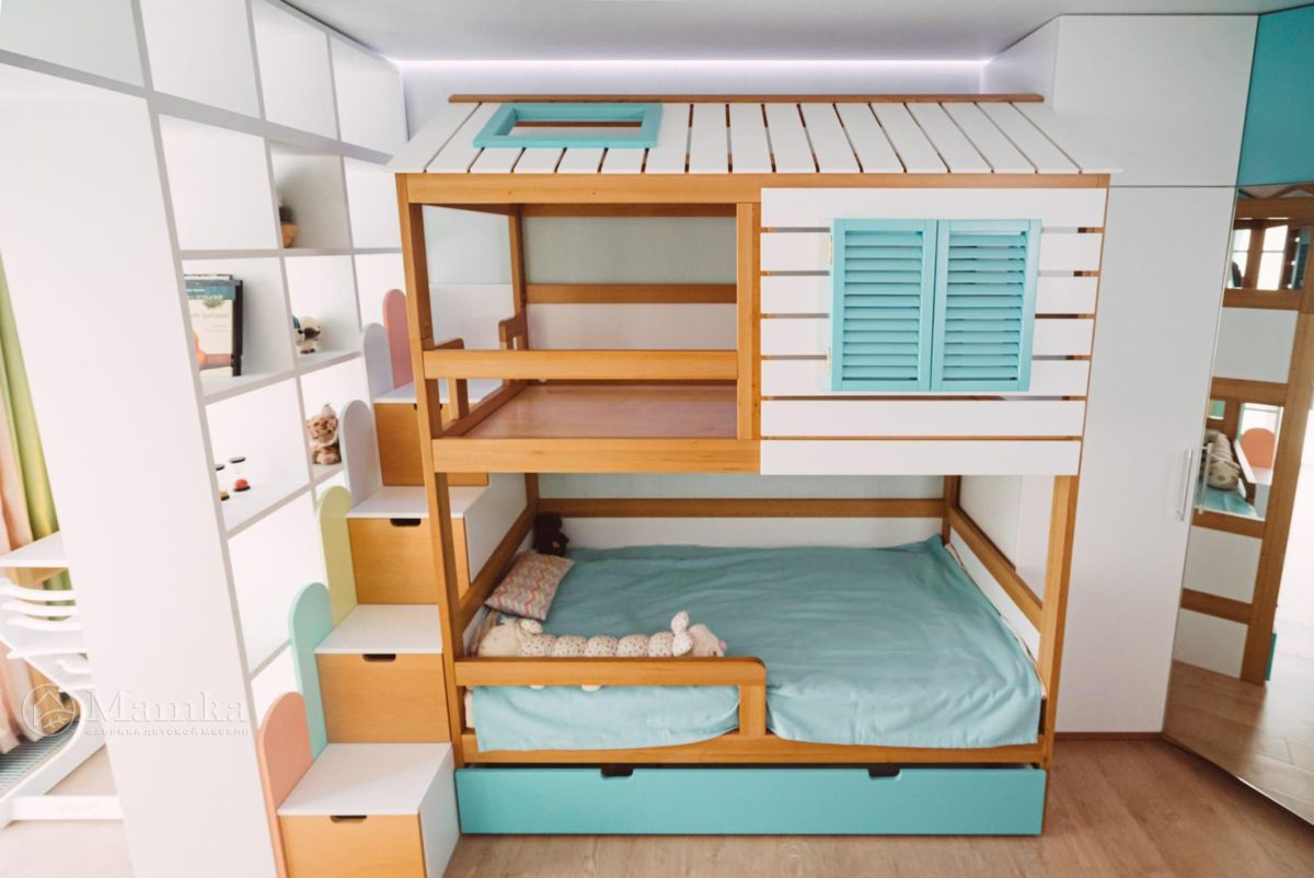 Светлая детская комната для мальчика 2 лет фото 4