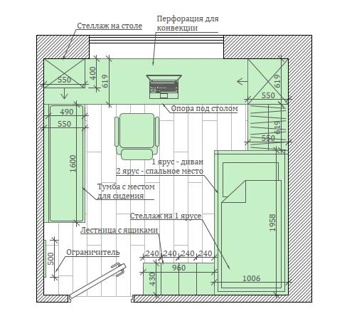 Светлая мебель в спальню девочки проект 5535-9