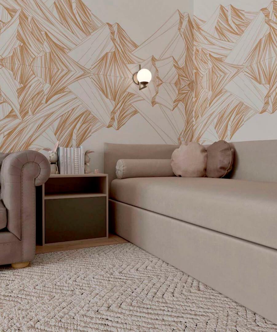 Светло-коричневая мебель детской комнаты мальчика проект 3865-1-5