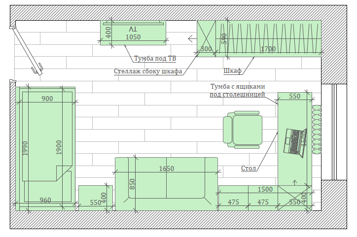 Светло-коричневая мебель детской комнаты мальчика проект 3865-1-8