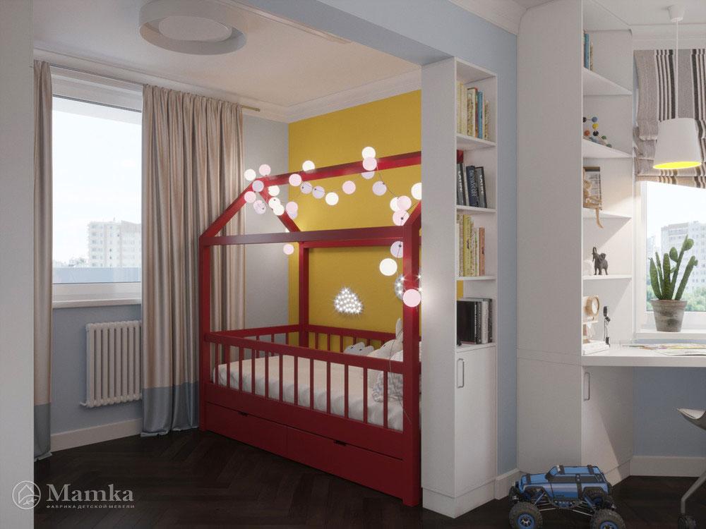 Светлый и легкий дизайн детской комнаты для двоих детей 1