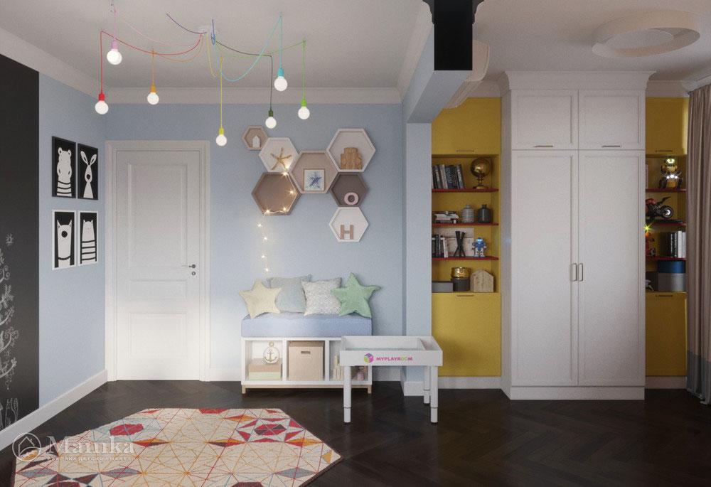 Светлый и легкий дизайн детской комнаты для двоих детей 2