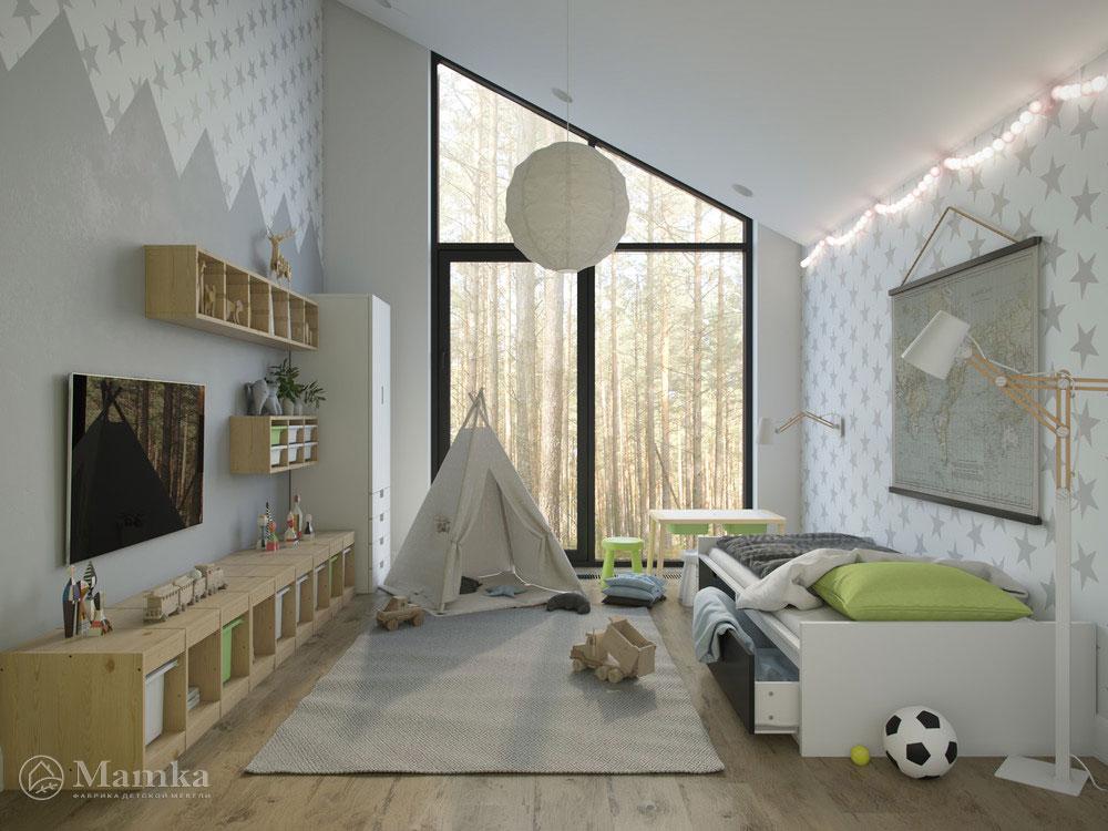 Светлый и воздушный дизайн детской спальни 1