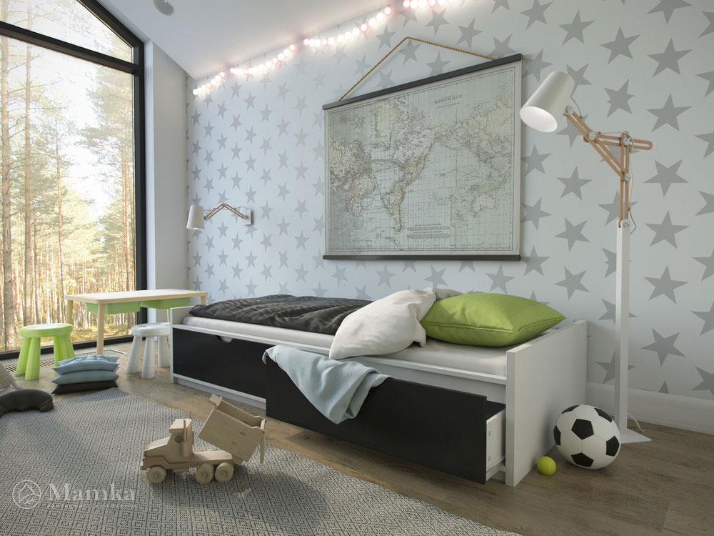 Светлый и воздушный дизайн детской спальни 2