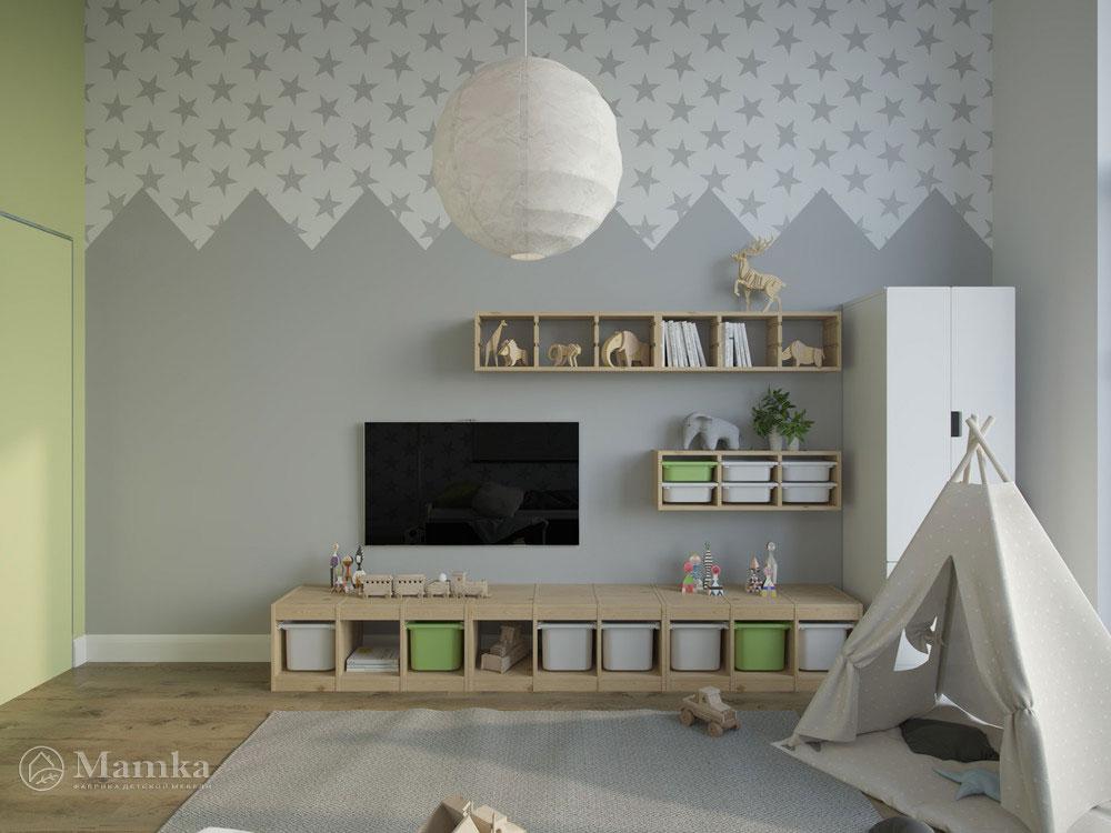 Светлый и воздушный дизайн детской спальни 4