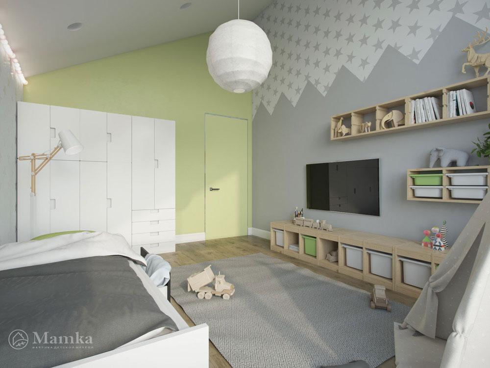 Светлый и воздушный дизайн детской спальни 5