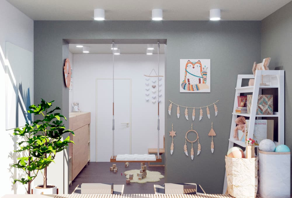 Трендовый дизайн детской игровой комнаты 1