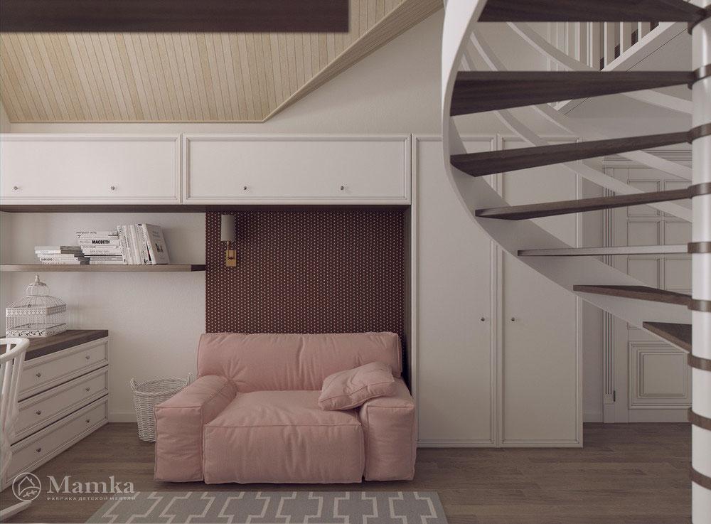 Удобные и практичные зоны в детской комнате 3