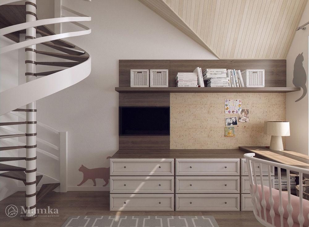 Удобные и практичные зоны в детской комнате 5