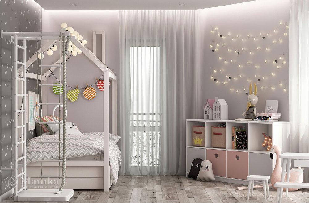 Универсальный дизайн детской комнаты - минималистский unisex 1