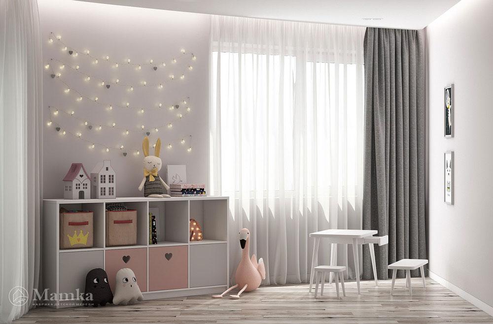 Универсальный дизайн детской комнаты - минималистский unisex фото 3