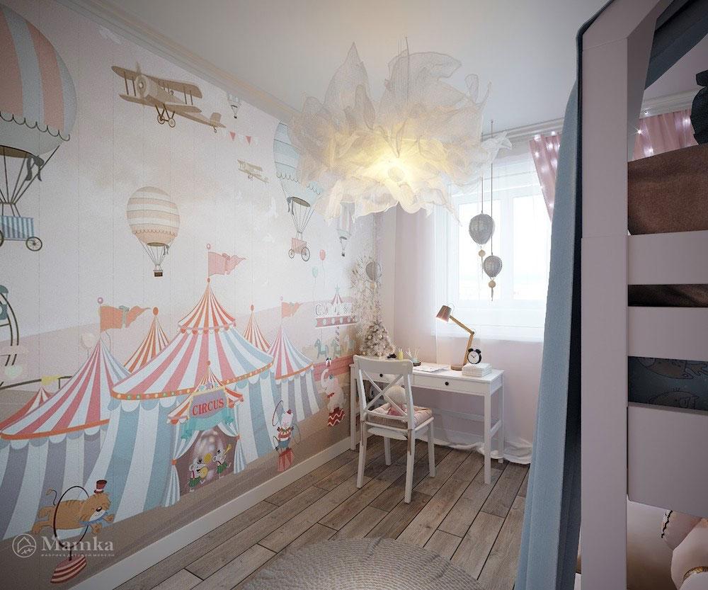 Утонченный и светлый дизайн детской спальни 1