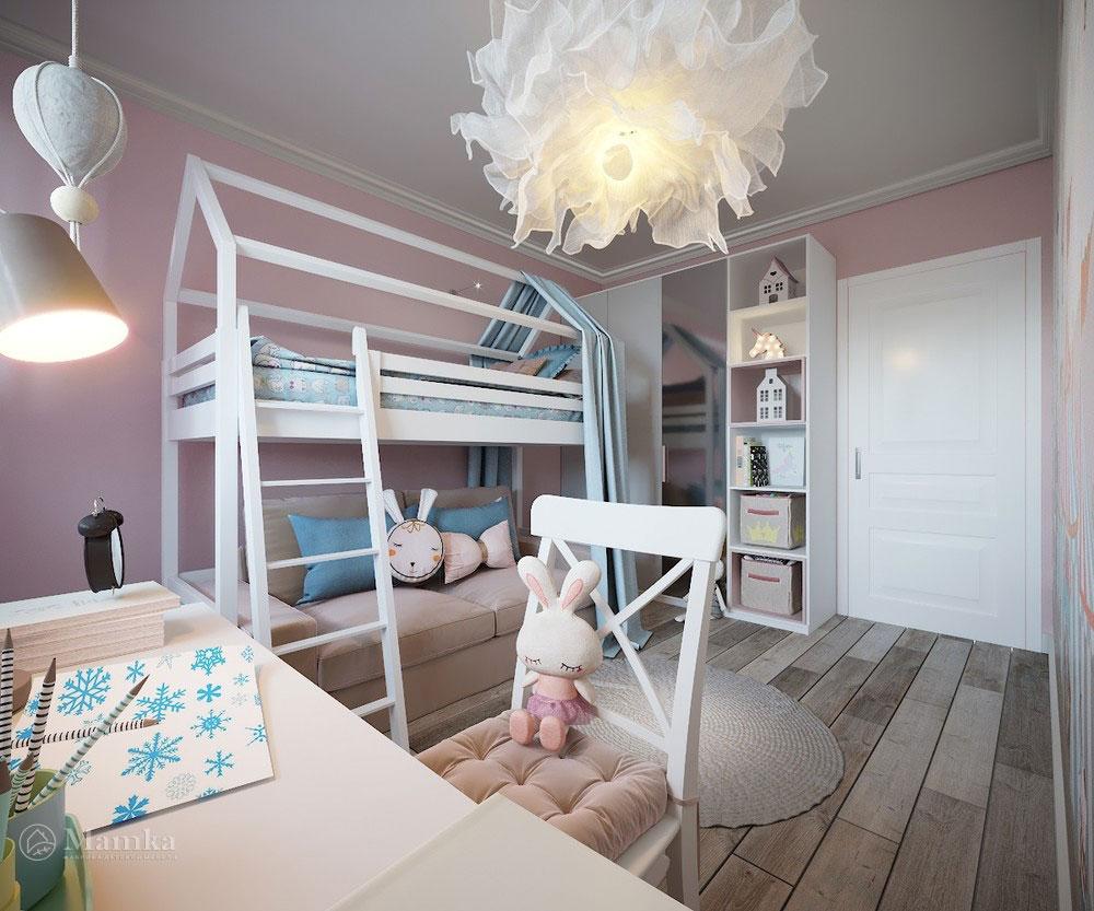Утонченный и светлый дизайн детской спальни 2
