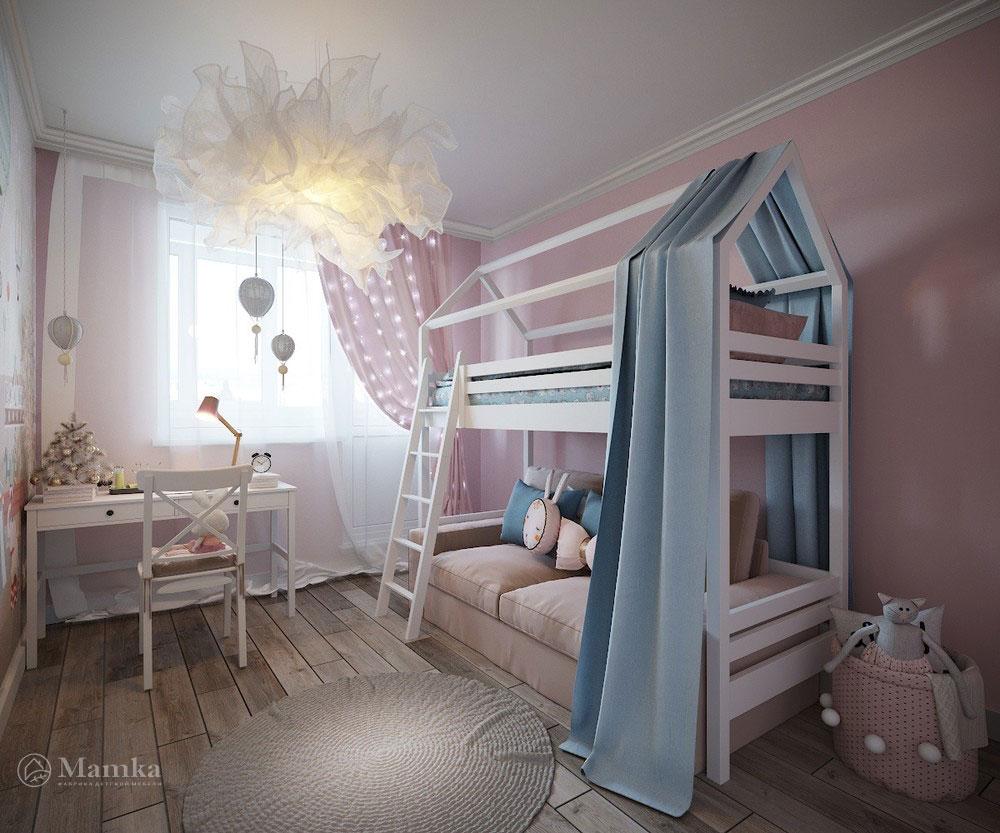 Утонченный и светлый дизайн детской спальни 3