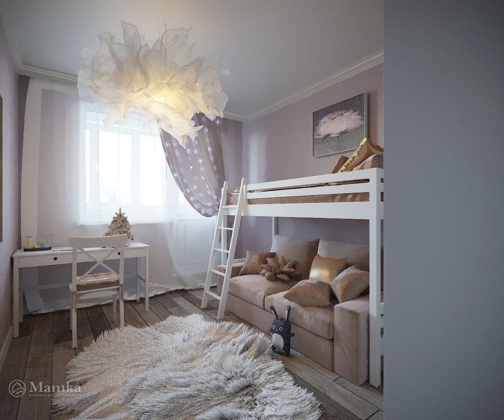 Утонченный и светлый дизайн детской спальни 4