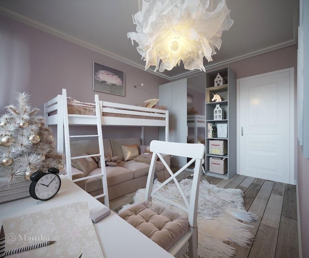 Утонченный и светлый дизайн детской спальни 5