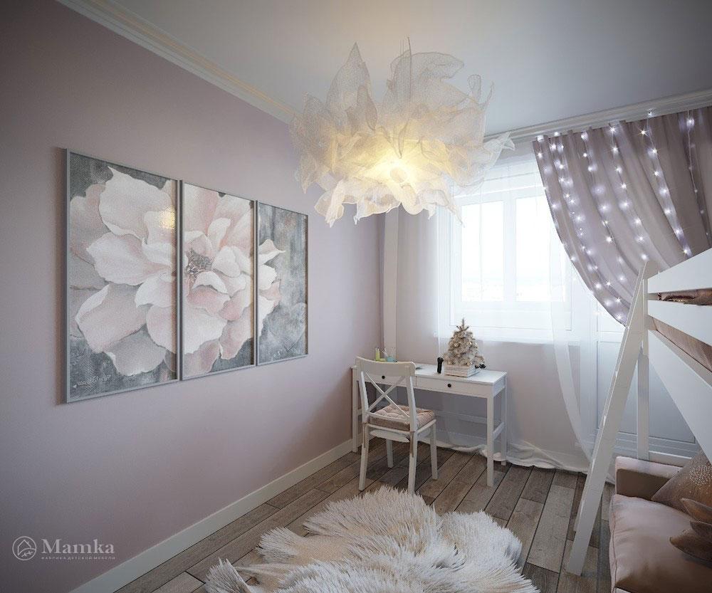 Утонченный и светлый дизайн детской спальни 6
