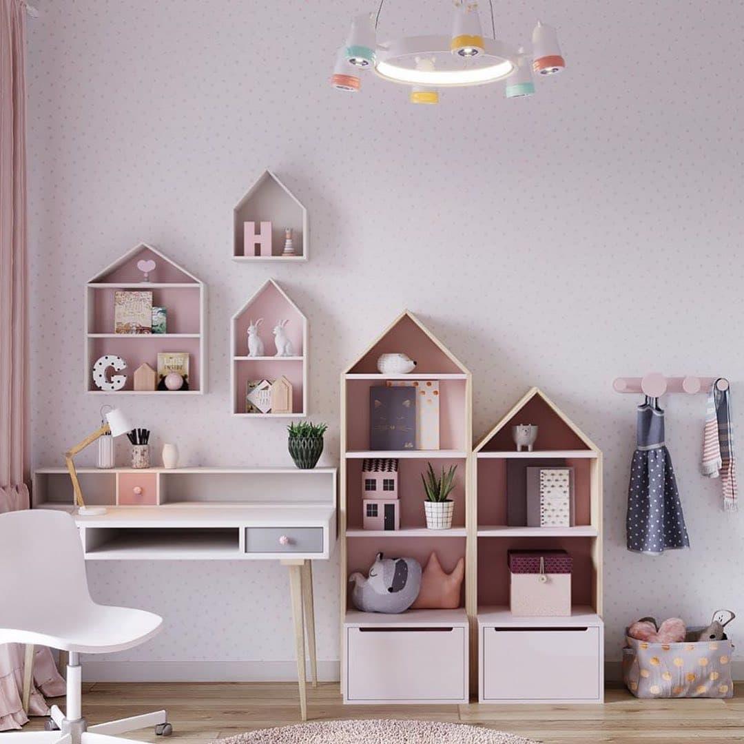 Уютная сказочная спальня для маленькой девочки 3