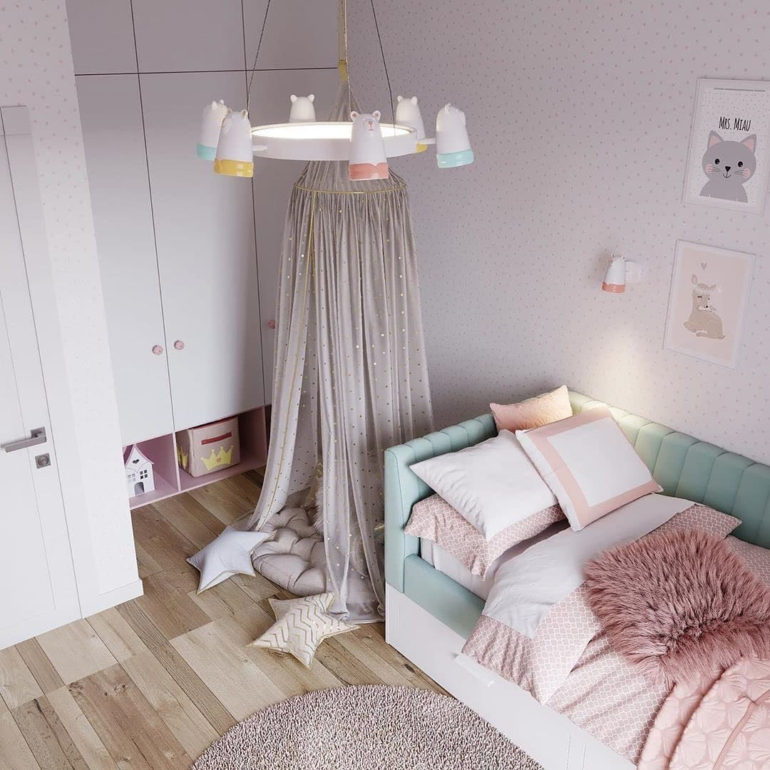 Уютная сказочная спальня для маленькой девочки 4